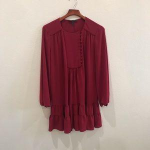 BCBG MAXAZRIA red flowy tiered dress size M